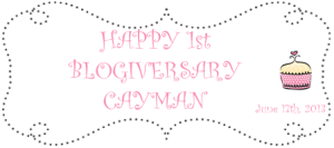 1st year blogiversary